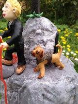 Hund und Bräutigam sind schon oben